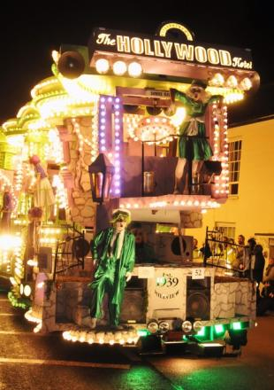 Members of Hill View CC at North Petherton Carnival 2012