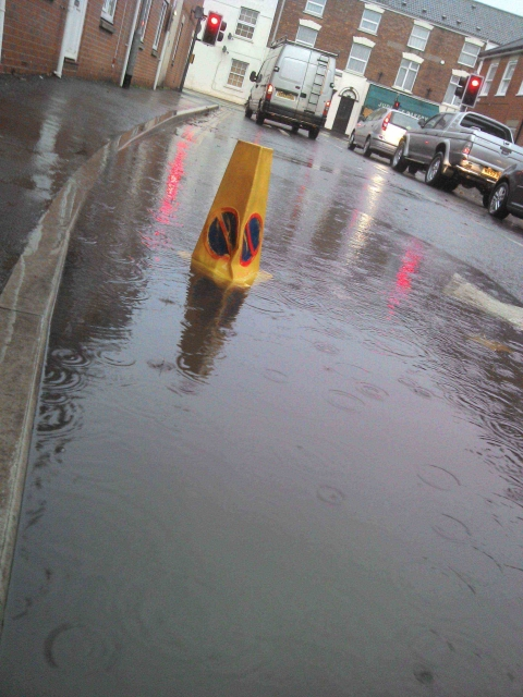 Flooding at St John Street/Cranleigh Gardens junction, Bridgwater.