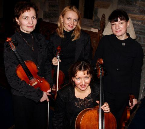 THE Dominant Quartet members, back, from left, are: Ekaterina Pogodina, Anna Sazonkina and Elena Revich; front, Tatiana Egorova. PHOTO: Ian Beech