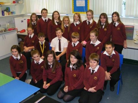 The Peer Mediators were praised for their excellent work helping other students at Hugh Sexey Middle School.