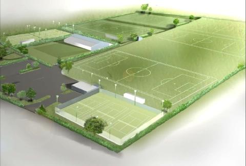 An image of what the new sports pitches could look like