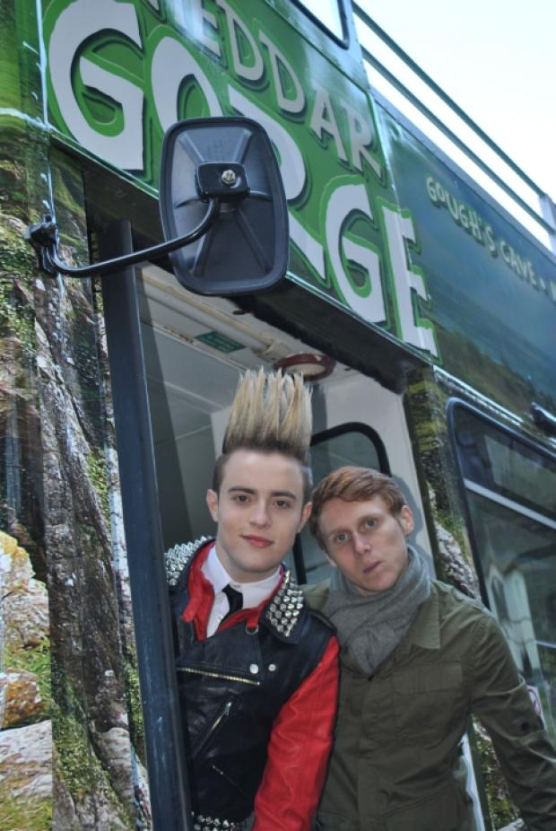 John of Edward with Jamie Borthwick from EastEnders.