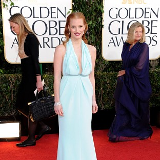 Jessica Chastain looked stunning in seafoam