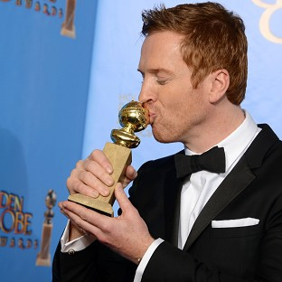Homeland star Damian Lewis picked up a Golden Globe