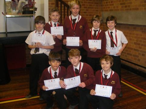 The Hugh Sexey team: William, Oliver, Harry, Johnny, William, Ben, Dougie and Fraser. Photo: submitted.