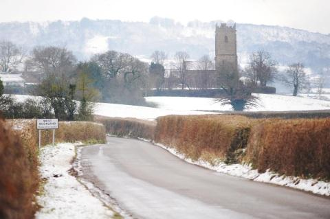 Snow at West Buckland.