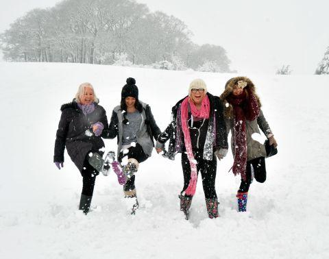 Burnham and Highbridge Weekly News: Fun in the snow at Nether Stowey. January 23, 2013.