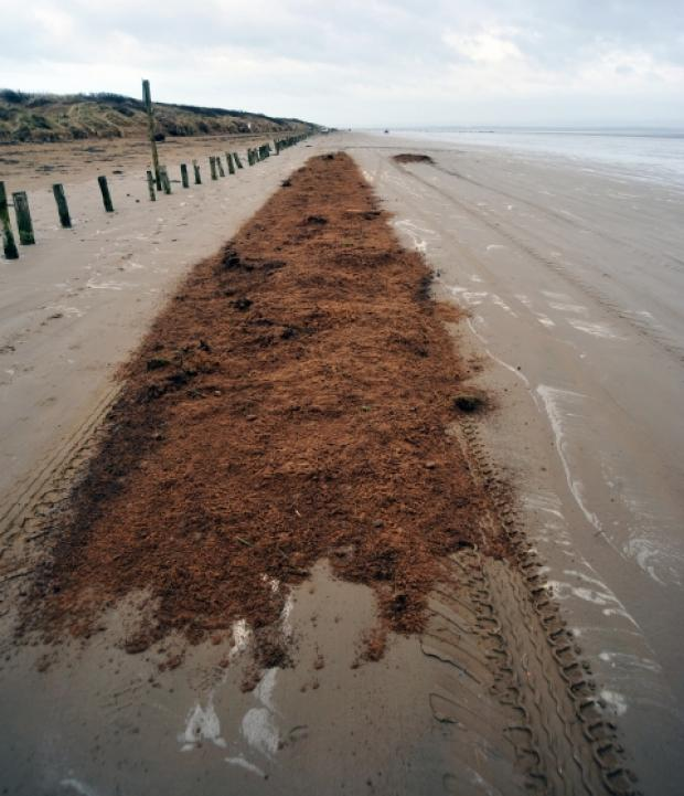 Council warns fly-tippers after rubble is dumped on Berrow beach