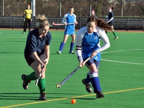 Burnham and Highbridge Weekly News: Chelsea Fisher, right, played her part in the opening goal for Burnham. PHOTO: Mike Lang.