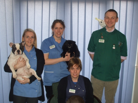From left, are the Bridge Veterinary Surgery team: Julia Reed and