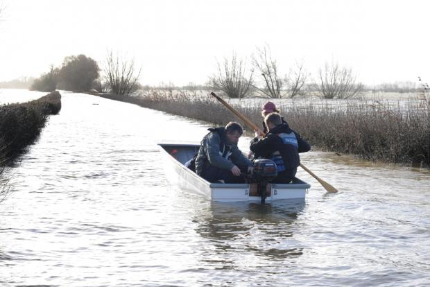 Burnham and Highbridge Weekly News: Residents in Muchelney need a boat to get to their home from 'the mainland'