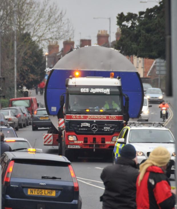 Burnham and Highbridge Weekly News: This picture was taken in Taunton Road this morning.