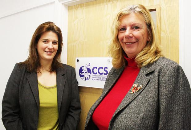 The new CSS Deputy Chief Executive Jenny Bridle with Chief Executive Katherine Armstrong.