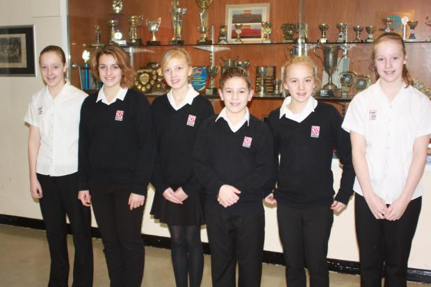 Holly Richards, Ella Dollery, Catherine Tolley, Elizabeth Tolley and Megan Richards. Photo: submitted.