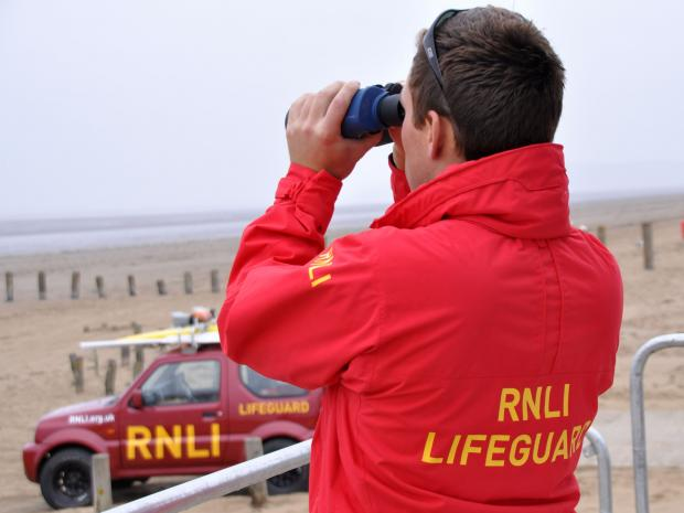 Burnham's RNLI lifeguards report busiest year on record. Photo: RNLI/Mike Lang