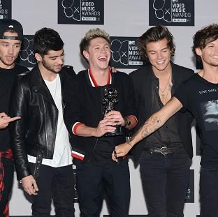 One Direction topped a list of the most popular acts in the world