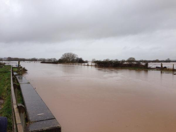 Burnham and Highbridge Weekly News: Burrowbridge was badly hit by flooding.