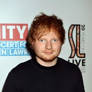 Ed Sheeran has come second in a list of weird crushes