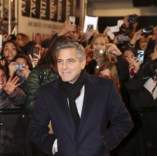 George Clooney wrote, directed and stars in the Second World War comedy Monuments Men (AP)