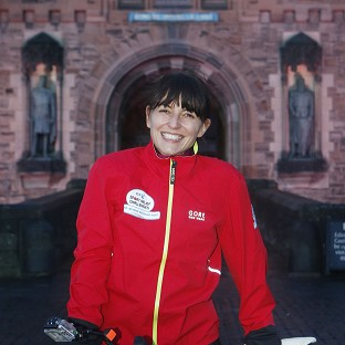 Davina McCall is being spurred on by the thought of her kids to complete her Sport Relief challenge