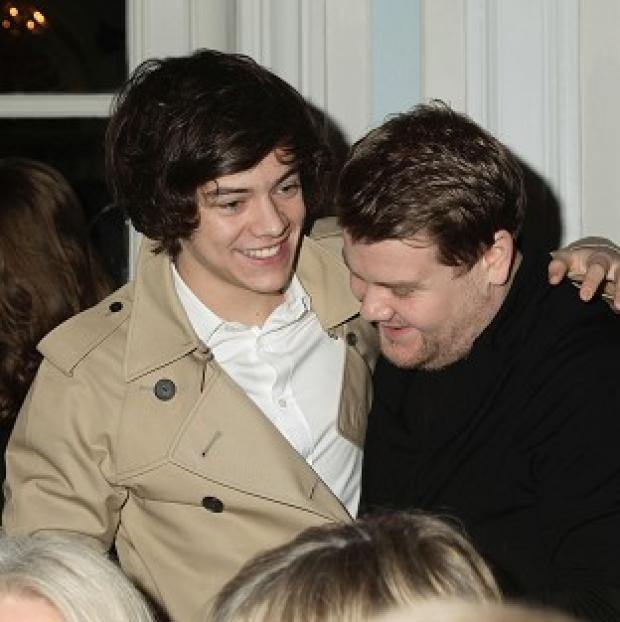Burnham and Highbridge Weekly News: James Corden is impressed with his young pal Harry Styles