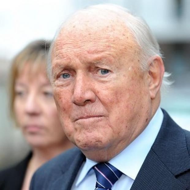 Burnham and Highbridge Weekly News: Stuart Hall has pleaded not guilty to raping two young girls