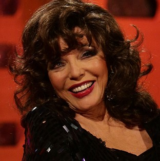 Joan Collins said it takes her half an hour to put on 'a full face with lashes'