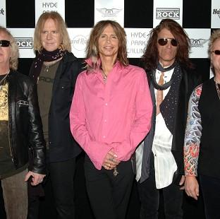 Aerosmith who will play their first date in London for four years