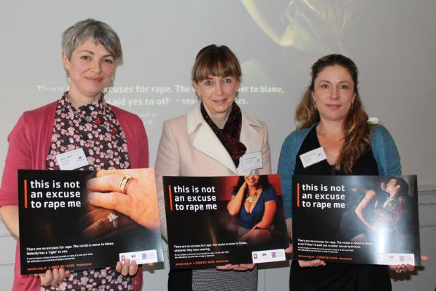 DR HEATHER Flowe, Rowan Miller director of SARSAS and Avon and Somerset PCC Sue Mountstevens at the launch of SARSAS.  PHOTO: Amber Thomas.