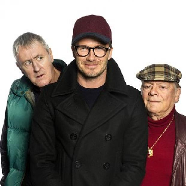 Burnham and Highbridge Weekly News: David Beckham joined Sir David Jason and Nicholas Lyndhurst in a special Only Fools And Horses sketch