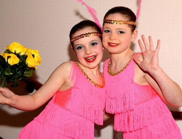 DANCERS Emma Orledge and Connie Hazleton-Cavill, ten.