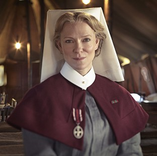 Hermione Norris plays a First World War nurse in The Crimson Field