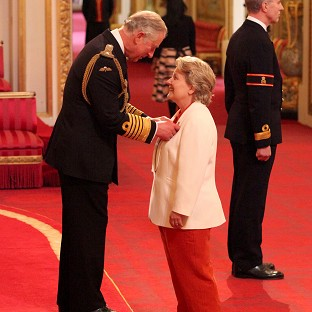 Sandra Toksvig was made an OBE by the Prince of Wales