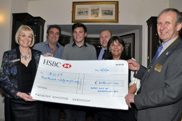 The cheque for more than
