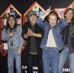 Burnham and Highbridge Weekly News: AC/DC's Malcolm Young (far left) is said to be too ill to perform