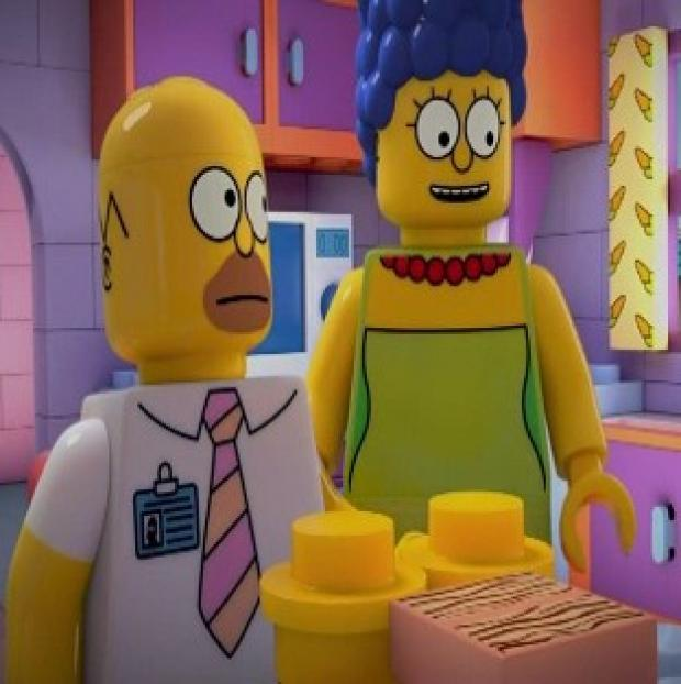 Burnham and Highbridge Weekly News: Homer and Marge Simpson will be turned into Lego characters for a special episode of The Simpsons