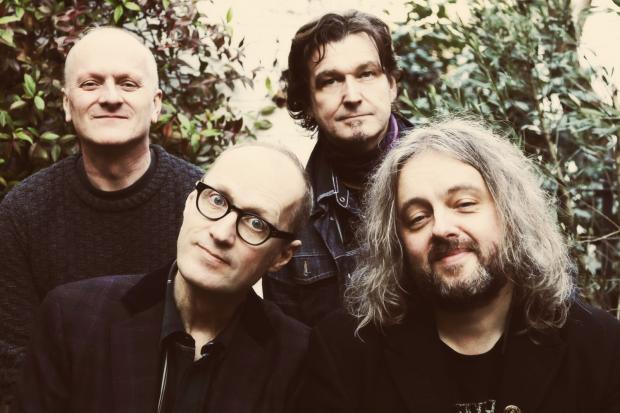 THE Bad Shepherds, with Ade Edmondson, second left.