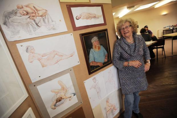 LIFE model and artist Hilda Gibson at the Pawlett festival.