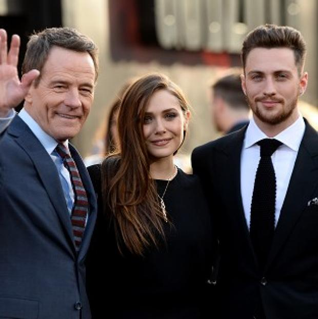 Burnham and Highbridge Weekly News: Bryan Cranston, Elizabeth Olsen and Aaron Taylor-Johnson at the LA premiere of Godzilla