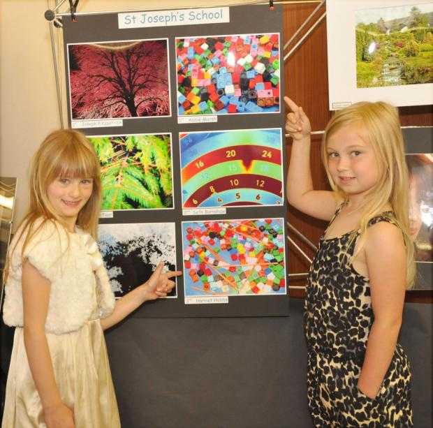 St Joseph's pupils Harriet Hobbs and Abbie Marsh, young photographers