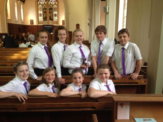 The talented Burnham Youth Choir