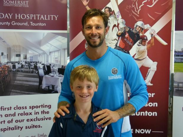 James Hayter meets Peter Trego