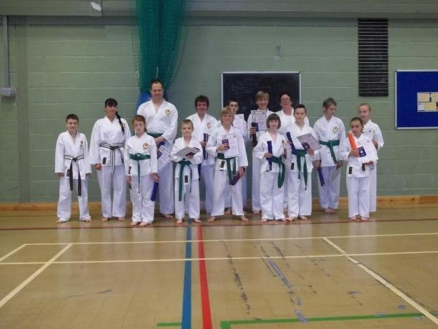 Karate students attend regional grading