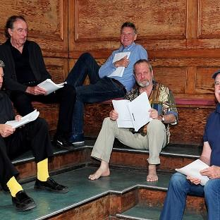Terry Jones, Eric Idle, Michael Palin, Terry Gilliam and John Cleese are reuniting for their new show Monty Python Live (Mostly) - One Down, Five To Go