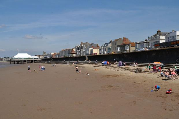 FAMILIES enjoy Burnham beach and the hot weather.