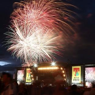 Fireworks signal the end of T in the Park music