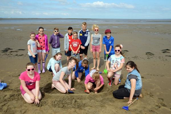 St Joseph's children enjoy fun on the beach