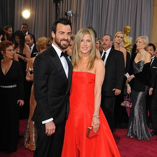Jennifer Aniston said Justin Theroux is so handsome to her