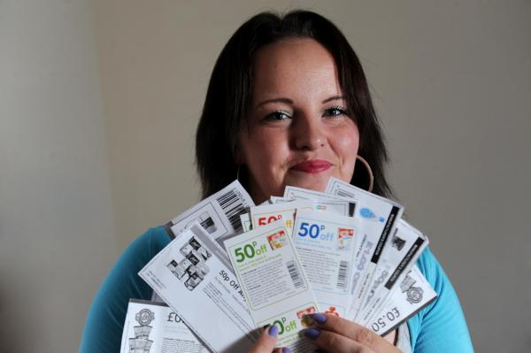 KERENZA Richards and her many vouchers.