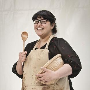 Clare Goodwin is the first contestant on the Great British Bake Off to leave the competition after breaking down over a Swiss roll.